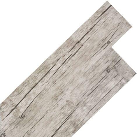 Planche de plancher PVC autoadhésif 5,02 m² 2 mm Chêne délavé