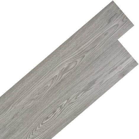 Planche de plancher PVC autoadhésif 5,02 m² 2 mm Gris foncé