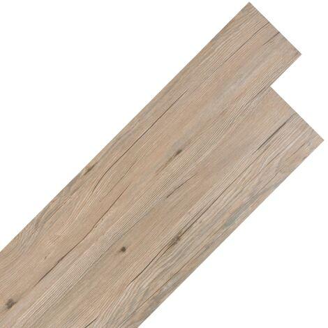 Planche de plancher PVC autoadhésif 5,02 m² 2 mm Marron chêne