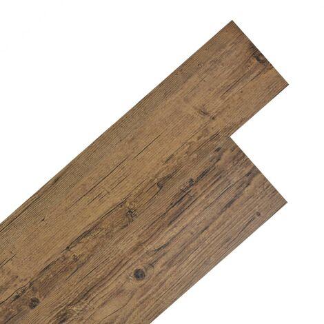 Planche de plancher PVC autoadhésif 5,02 m² 2 mm Marron noyer