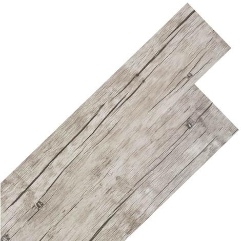 Planche de plancher PVC autoadhesif 5,02 m2 Chene delave