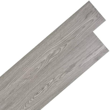 Planche de plancher PVC autoadhesif 5,02 m2 Gris fonce