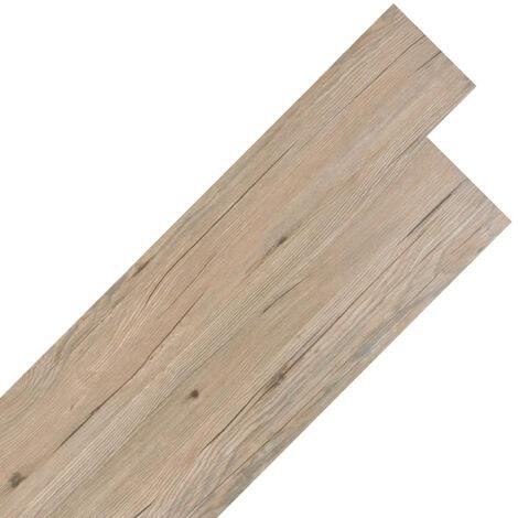 Planche de plancher PVC autoadhesif 5,02 m2 Marron chene