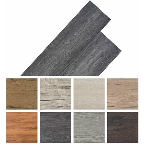 Planche de plancher PVC autoadhesif 5,02 m2 Noir et blanc
