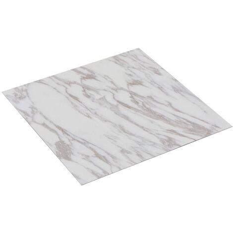 Planche de plancher PVC autoadhésif 5,11 m² Blanc Marbre