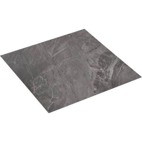 Planche de plancher PVC autoadhésif 5,11 m² Noir avec motif