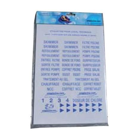 """main image of """"Planche d'étiquettes autocollantes de SCP - Outillage"""""""