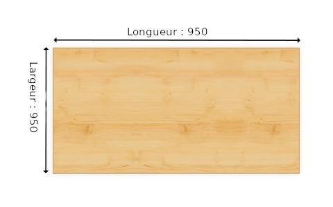 Planche En Mélaminé Blanc épais 16 Mm