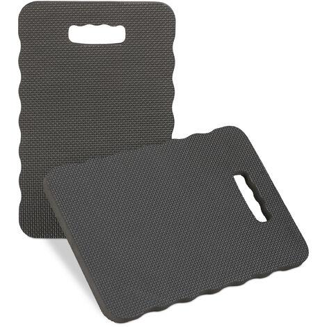 Planche genoux jeu de 2, pour travail dans le jardin; atelier, maison, tapis de protection; lxP 40 x26 noir