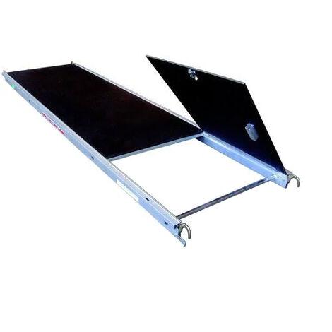 Plancher 0.75x3m en alu/bois avec trappe