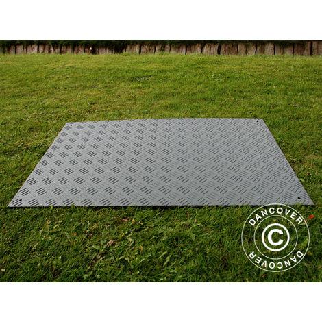 Plancher de réception et protection de sol dalle, 0,96 m², 80x120x1cm, gris, 1pcs