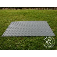 Plancher de réception et protection de sol dalle, 0,96 m², 80x120x1cm, gris, 1pcs