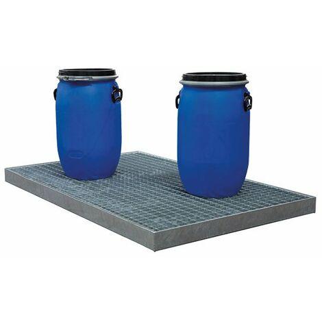 Plancher de rétention en acier galvanisé (plusieurs tailles disponibles)