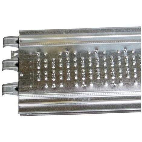 Plancher d'échafaudage acier galvanisé - 2 m x 0,30 m
