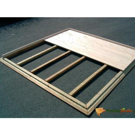 meilleur pas cher 1a5ea 32389 Plancher en bois pour abri de jardin en bois 538x538cm
