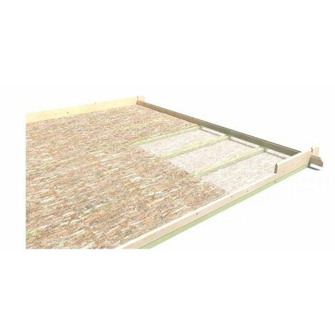 Plancher pour Maison de jardin Mont Blanc Structure bois massif Sapin blanc du nord 19mm