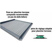 Plancher terrasse composite 25 m²