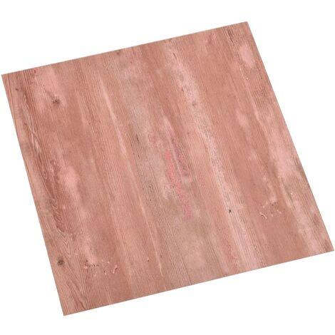 Planches de plancher autoadhésives 55 pcs PVC 5,11 m² Rouge