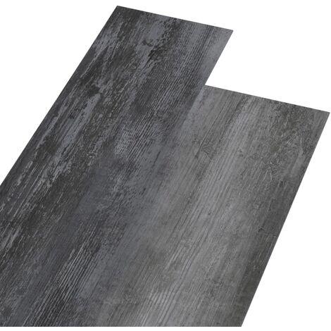 Planches de plancher PVC 5,26 m² 2 mm Gris brillant