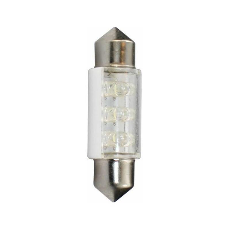PLANET LINE PLANET LINE Lot de 2 Ampoules LED - Navette C5W - 12 V - 0,48 W - 36 mm - Blanc