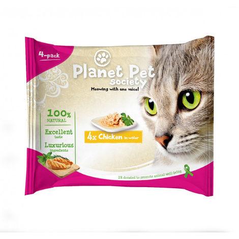 Planet Pet Gato Pouch Pack Pollo 4x50gr
