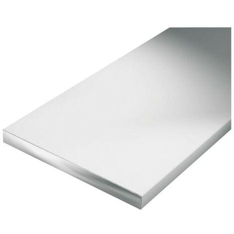 Plano / barra aluminio 1000/15x2mm plata