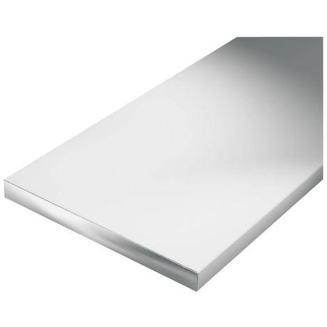 Plano / barra aluminio 1000/40x3mm plata