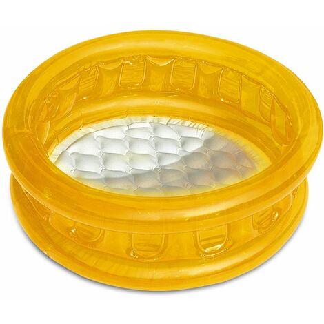 Planschbecken Ø 64cm mit gepolsterten Boden - 3 Farben gelb