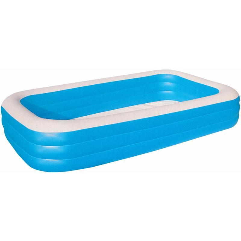 Blau 305 x 183 x 56 cm Bestway 54009 Deluxe Rechteckiger Familien-Pool