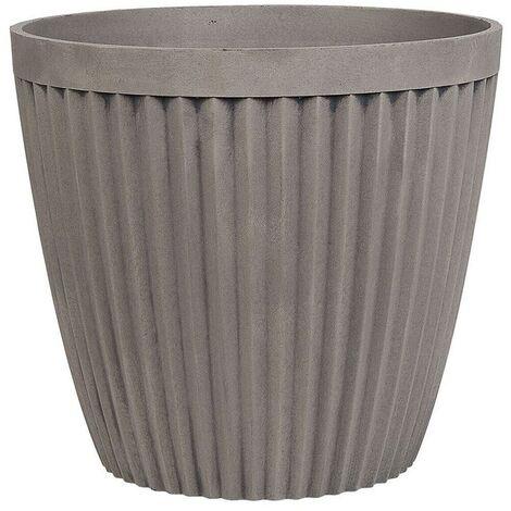 Plant Pot ⌀ 36 cm Taupe POKA