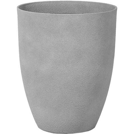 Plant Pot 43 x 43 x 52 cm Grey CROTON