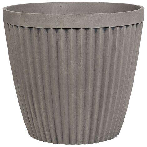 Plant Pot ⌀ 44 cm Taupe POKA
