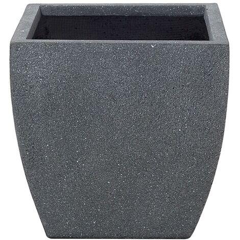Plant Pot Fibre Clay Grey 39 x 39 x 38 cm ORICOS