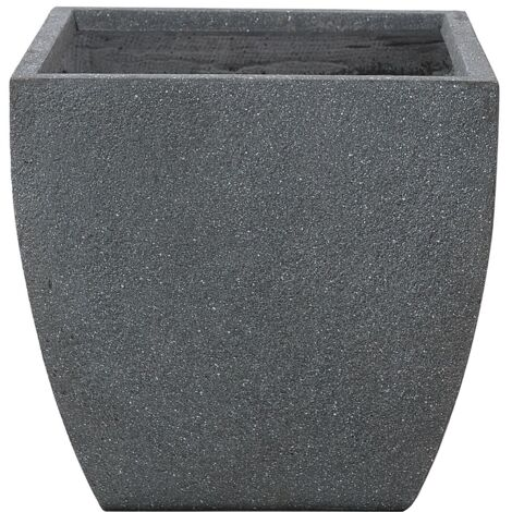 Plant Pot Fibre Clay Grey 46 x 46 x 44 cm ORICOS