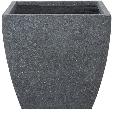 Plant Pot Fibre Clay Grey 53 x 53 x 51 cm ORICOS