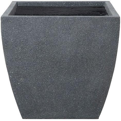 Plant Pot Fibre Clay Grey 53 x 53 x 51 cm ORICOS