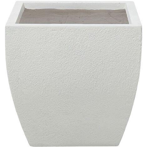Plant Pot Fibre Clay White 39 x 39 x 38 cm ORICOS