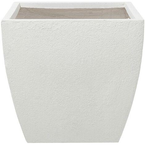 Plant Pot Fibre Clay White 53 x 53 x 51 cm ORICOS