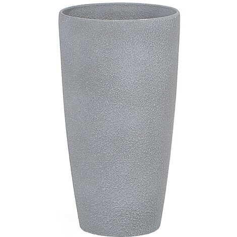 "main image of ""Plant Pot Planter Stone Fiberglass Natural Raw Garden Patio Grey Small Abdera"""