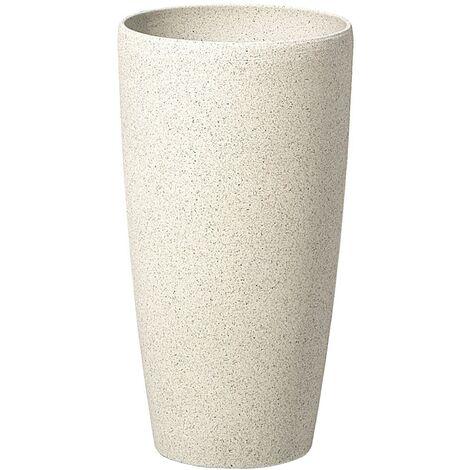 Plant Pot Stone White 23x23x43 ABDERA
