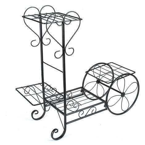 Plant Stand Display 4 Tier Decorative Flower Pot Shelf C