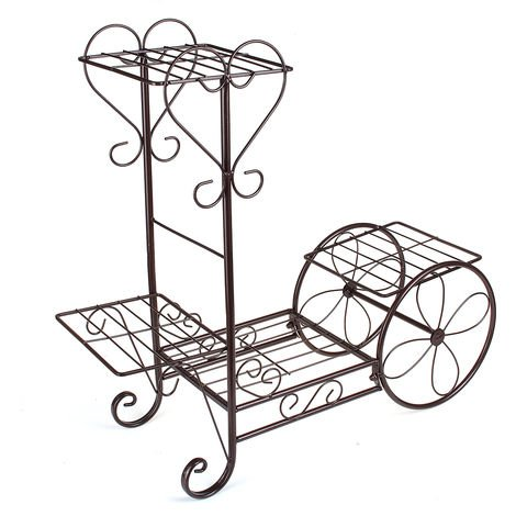 Plant Stand Display Stand 4 Tier Decorative Flower Pot Shelf B