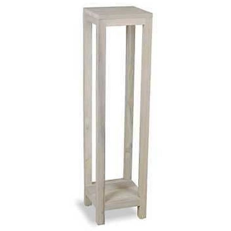 Plant Stand for Indoor/Outdoor Use - Light Greywash Finish 1 Shelf