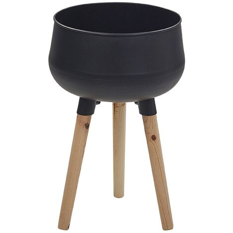 """main image of """"Plant Stand Indoor Outdoor Flower Pot 30 x 30 x 47 cm Metal Black Agros"""""""