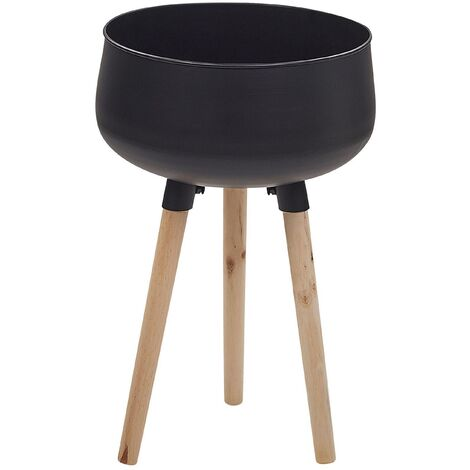 """main image of """"Plant Stand Indoor Outdoor Flower Pot 35 x 35 x 55 cm Metal Black Agros"""""""