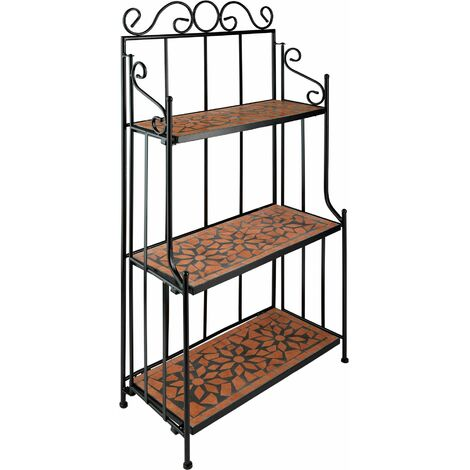 """main image of """"Plant stand mosaic 3 levels - outdoor plant stand, pot stand, plant shelf"""""""