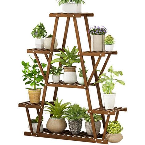 Plant Stand Shelf Wood Shelves Rack Holder Stand