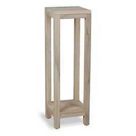 Plant Stand with 1 Shelf Indoor/Outdoor Use - Light Greywash Finish
