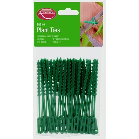 "Plant Ties Plant Support SupaGarden Plant Ties 6.5"" (16.5cm) Pack of 25 Ties"