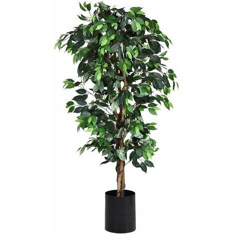 Planta Árbol Artificial con Maceta Altura de 180cm para Oficina Hogar Decoración Interior